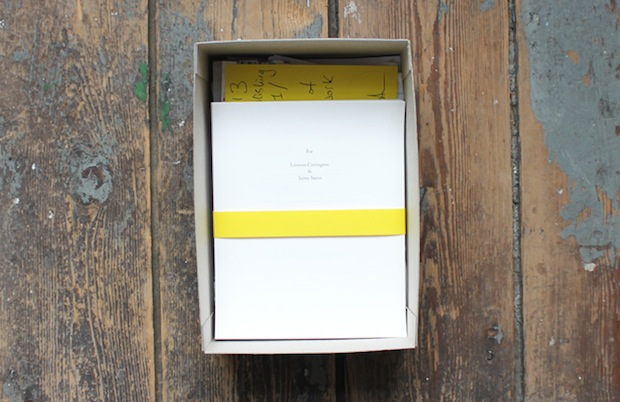 limited edition poetry box interior