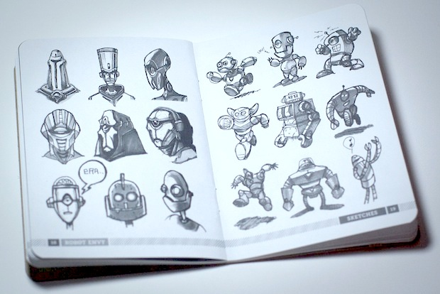 book of robot illustrations