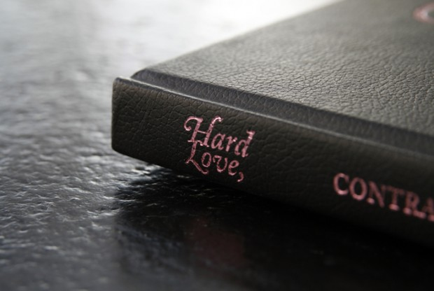 Hard Love foil stamped book cover design inspiration