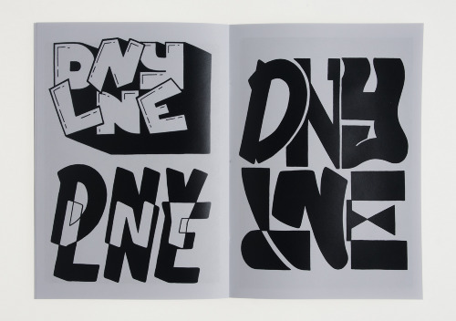 DNYLNE zine hand rendered typography