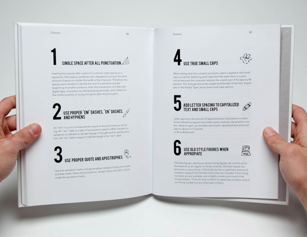 Creative Book Page Design : Hints for an advertising creative the book design