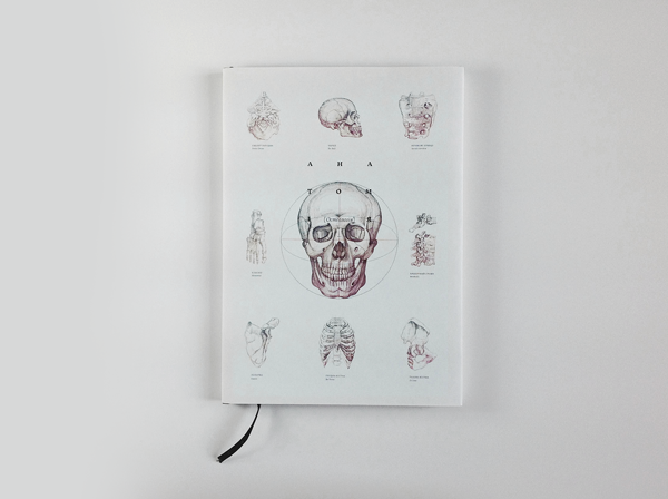 anatomy osteology book design inspiration medical diagram cover skull