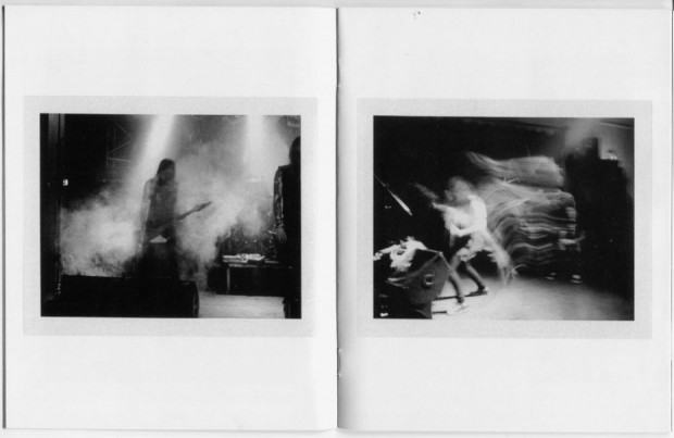 black and white polaroid photography zine