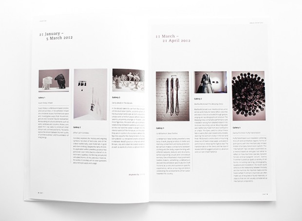 Craft Victoria annual report - design inspiration