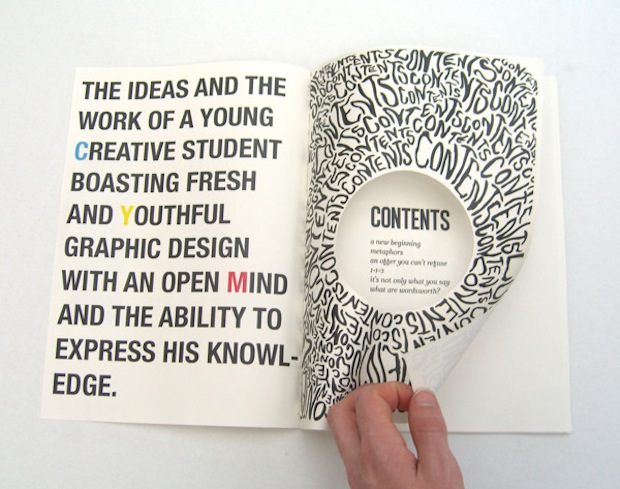 Creative Typography Book Cover Design : Creative mind useful knowledge the book design