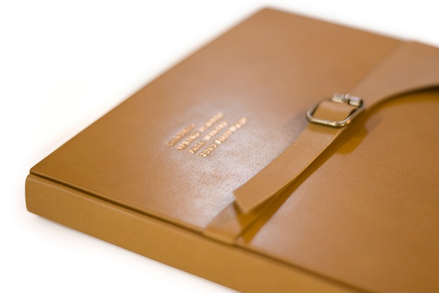 brown leather bound fashion book design inspiration
