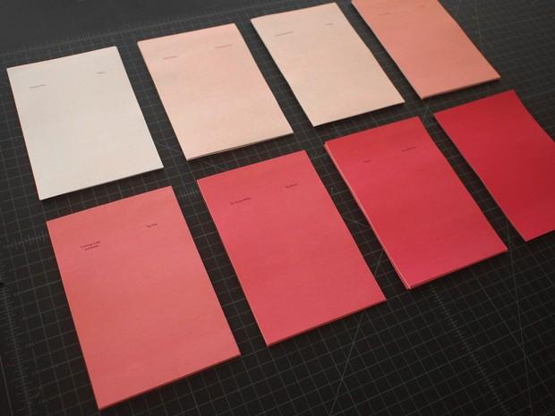 experimental book binding process