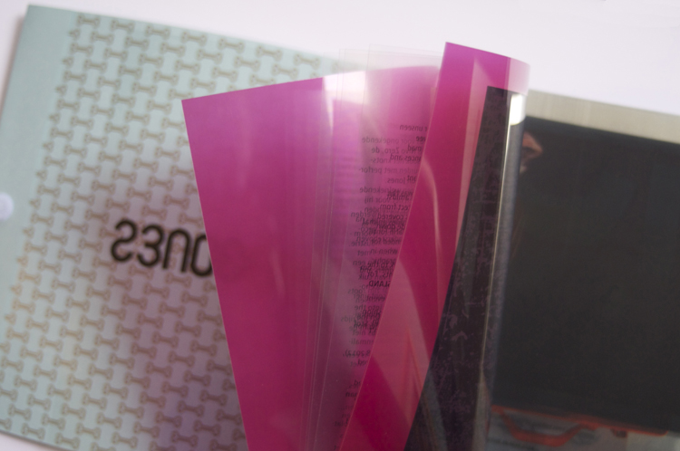 graphic design inspiration – a book with transparent pages