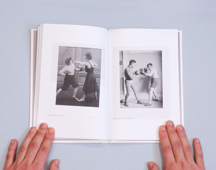 graphic design inspiration – black and white boxing book