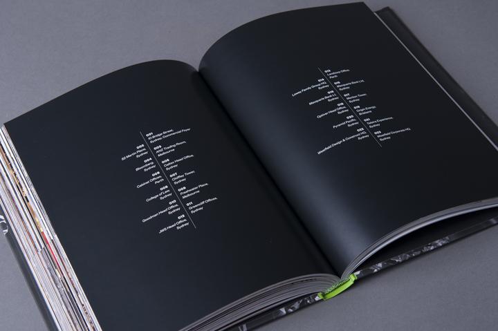 graphic design inspiration - black typographic book interior spread design