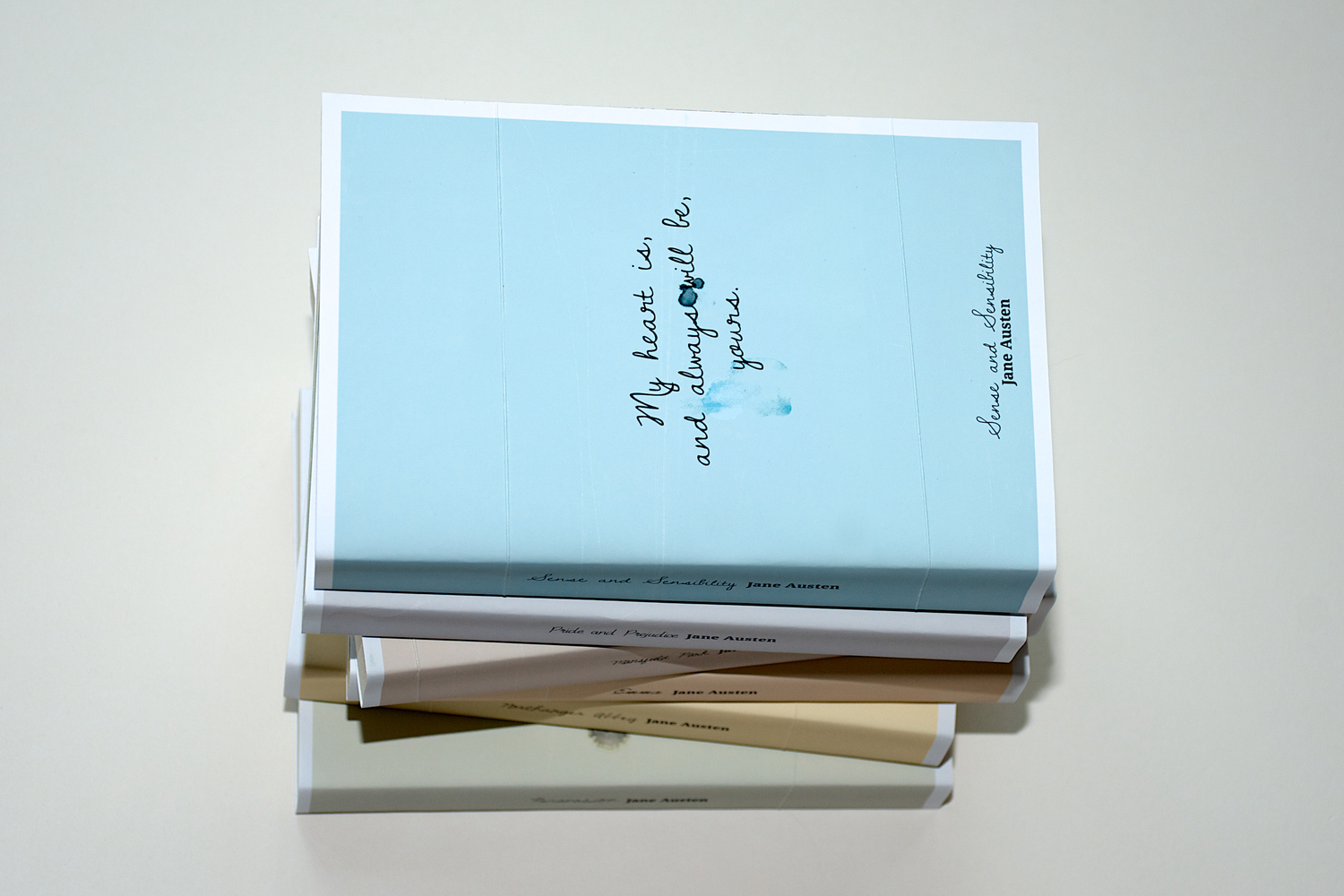 Modern Book Cover Inspiration : Jane austen 'tears book cover series the design