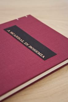 Book Design Inspiration – A Scandal in Bohemia hand-bound book cover